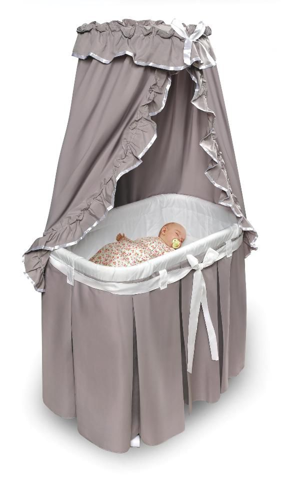 Badger Basket Majesty Baby Bassinet with Canopy Bedding - DIY with own fabric u0026 basicbassinet  sc 1 st  Pinterest & Badger Basket Majesty Baby Bassinet with Canopy Bedding - DIY with ...