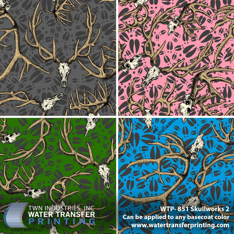 Skullworks 2 Hydrographic Film | Camouflage Patterns for