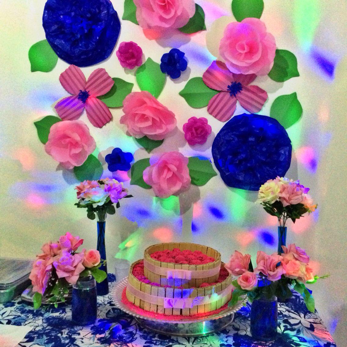 Flores gigantes de papel decora o festa das flores for Como decorar c