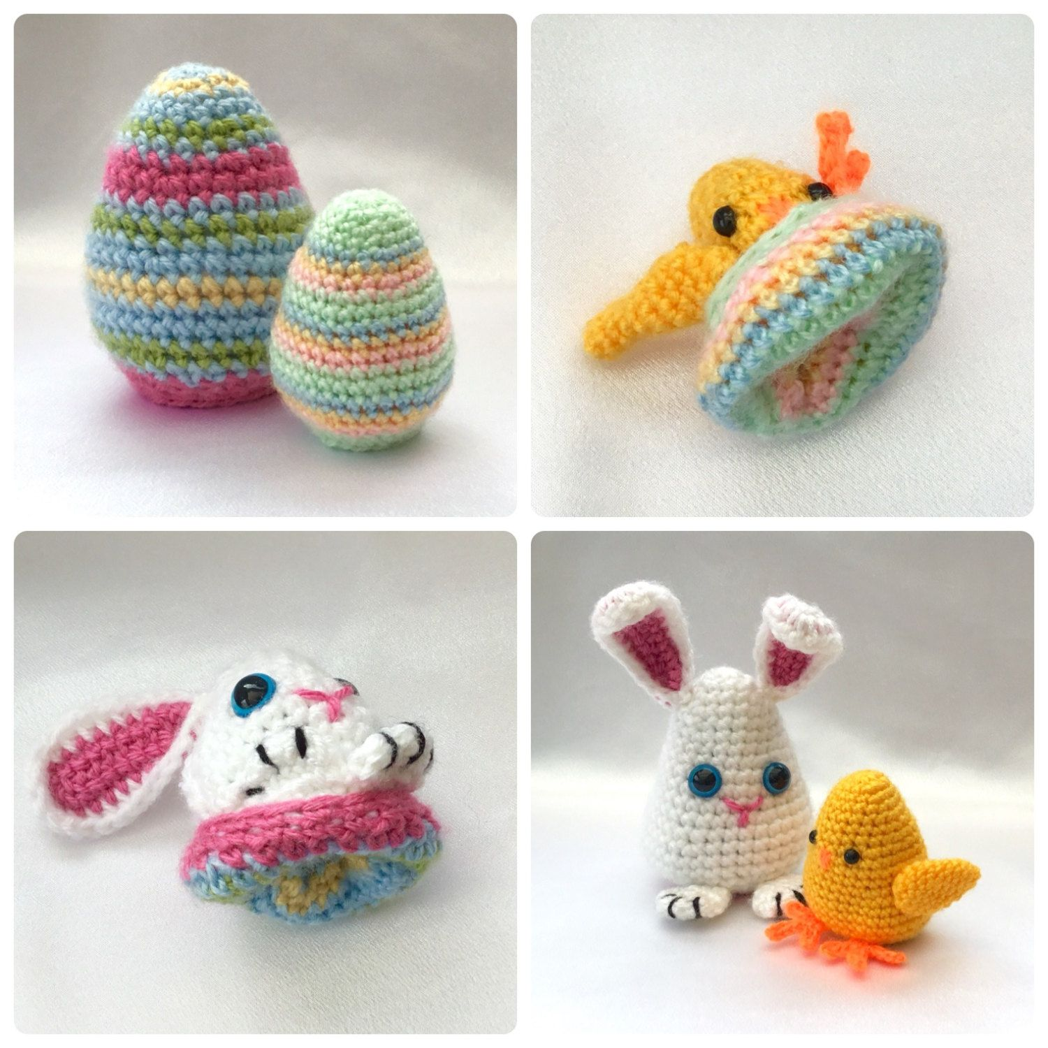 Easter Egg Flips Bunny and Chick Crochet PDF by HookedoPatterns ...