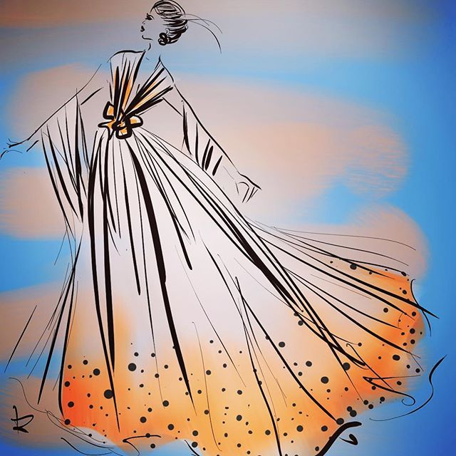 #goodmorning #fashionistas #fashionblogger #fashionworld #fashiondesigner #stylists #makeupartist let's have a #glamorous #glamour #weekend #inspirational #creative and #stylish be #fashionable #instagood #instastyle #instafshion sketch by #lindazoon
