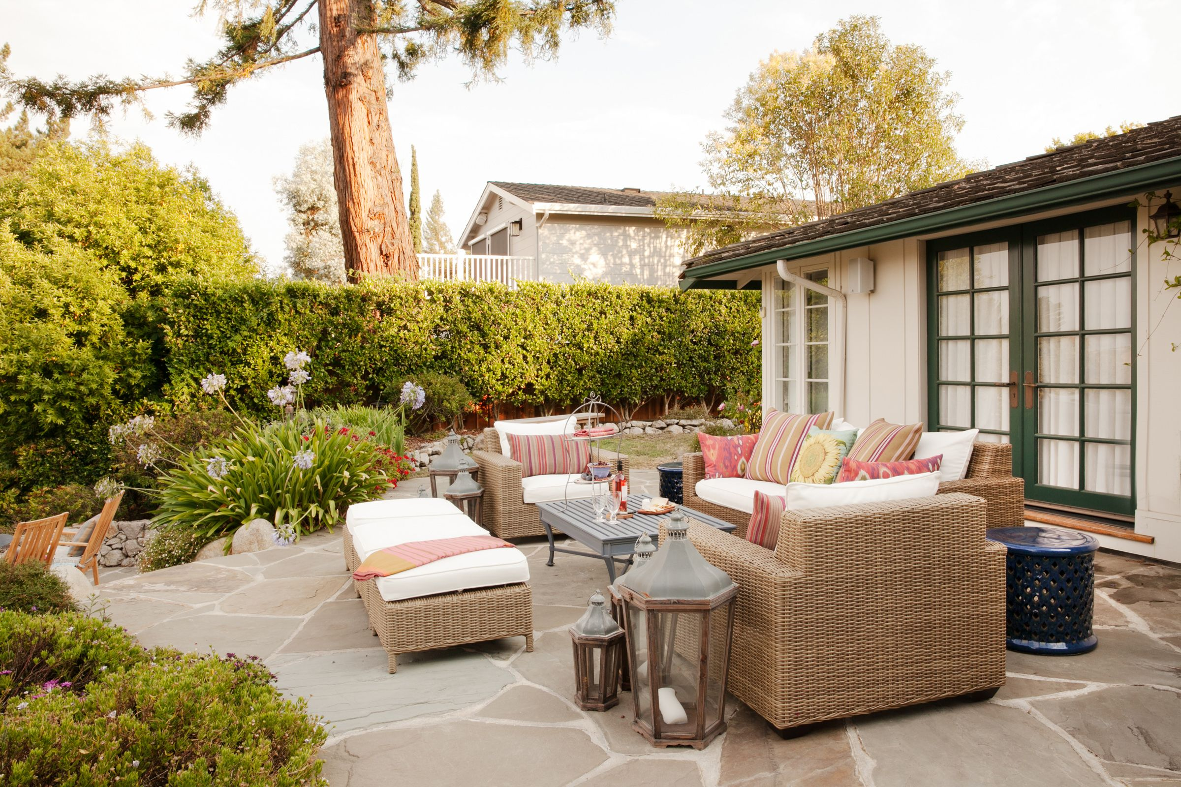 indoor outdoor living spaces mediterranean style scenic outdoor living designed for entertaining kari mcintosh creates multifunctional outdoor living space inspired by the french countryside photo backyard ideas
