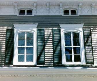 Historic wood shutters vs vinyl shutters oldhouseguy blog house remodel pinterest vinyl for Vinyl vs wood exterior shutters