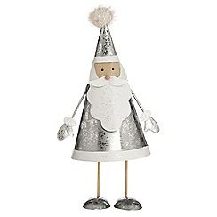 debenhams silver santa bouncer christmas decoration - Silver Christmas Decorations Uk
