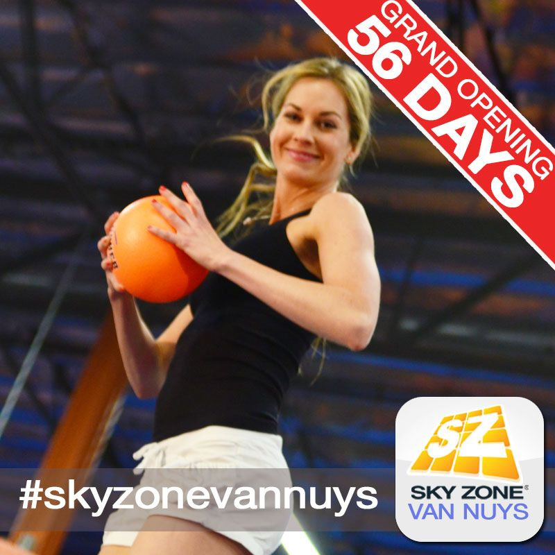 Sky Zone Van Nuys opens in just 56 days! Be the first to play dodgeball with friends! #skyzonevannuys #skyzone #fun #jump #vannuys #california #igers #bounce #kids #teenagers #trampoline #love #picoftheday #sky #me #cute  #play #fitness #health #foampit #exercise #openjump #gymnastics #jumphigh #tumbling #workout #fit #fitness #trampoline #birthdayparty 7741 Havenhurst Ave, Van Nuys, CA. (951) 354-0001