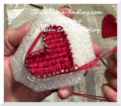 How To Weave A Heart On A Pin Board Loom Includes Instructions For
