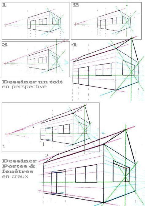 Dessiner Une Maison En Perspective  Simplement  Association