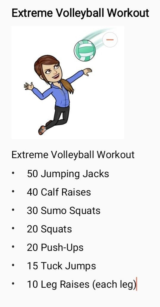 Extreme Volleyball Workout Extreme Volleyball Workout Volleyball Workouts Volleyball Training Volleyball Conditioning