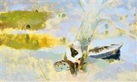 On the bank of Danube On the bank of Danube gouache on paper 21 x 34,5 cm