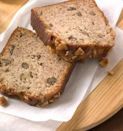 A healthier Banana Bread for my toddler.. (not to self: grind the nuts)..
