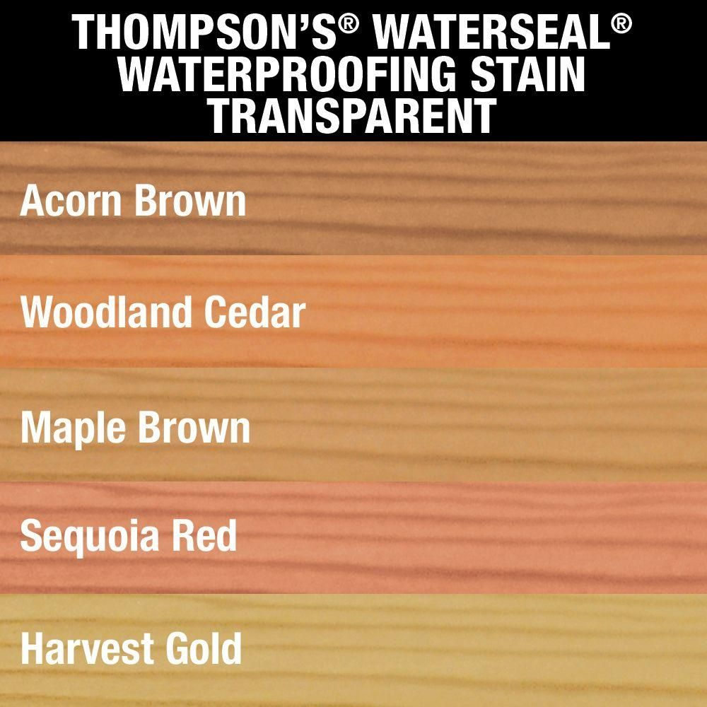 Thompson S Waterseal 1 Gal Transparent Acorn Brown