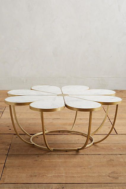 Anthropologie Boutonniere Coffee Table Function Form And Flowers