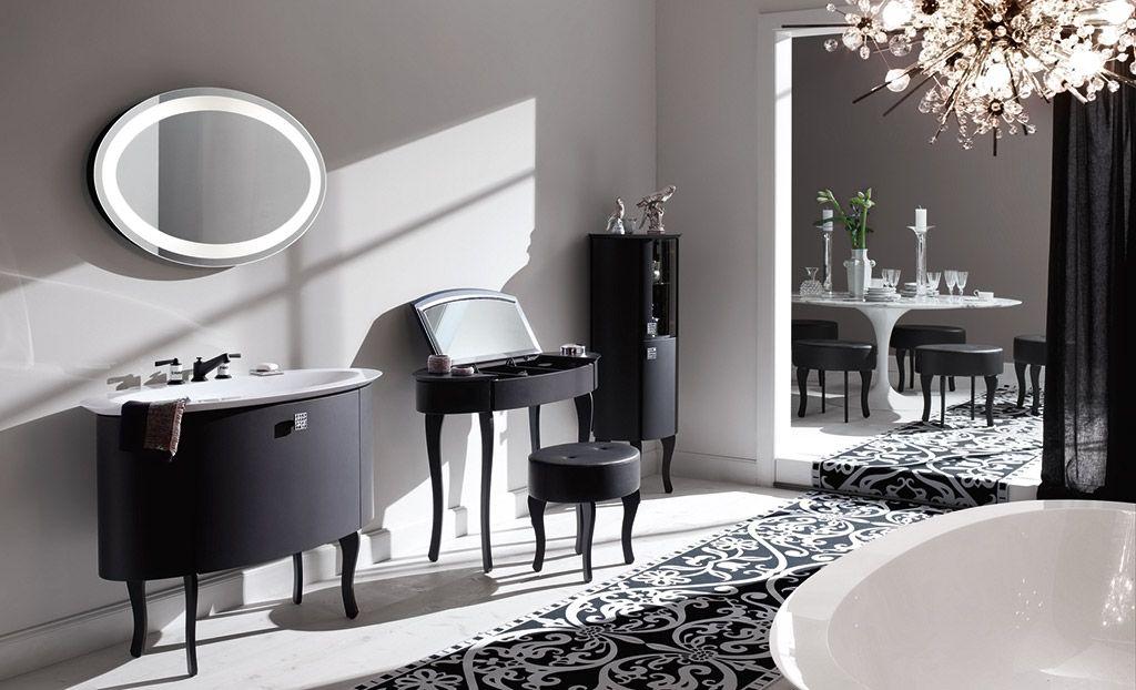 noir #black #salledebain #bathroom #meubles #diva #Burgbad Noir - salle de bain meuble noir