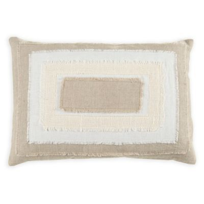 Beekman 40 Stillwater Stacked Oblong Throw Pillow In Natural Unique Beekman Home Decorative Pillow