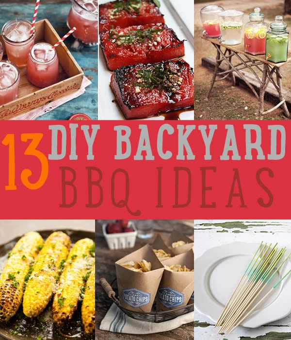 DIY Projects And Recipes For A Backyard BBQ