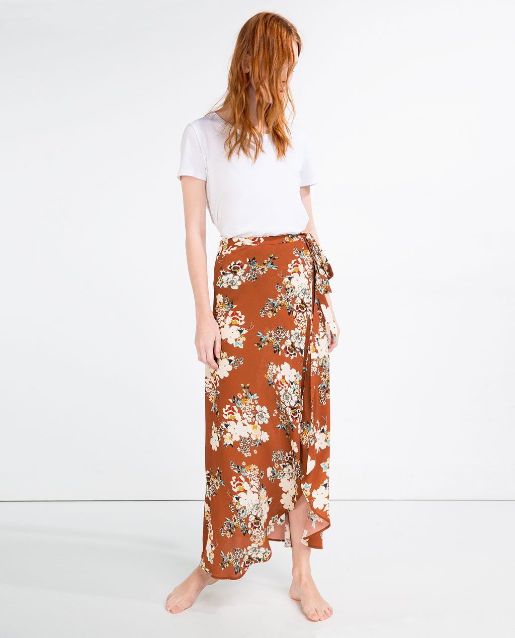 Imagen 1 de FALDA PAREO LARGA de Zara | ropa que me gusta