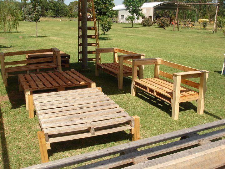 Muebles de jardín hechos con pallets de madera | Gardens | Pinterest ...