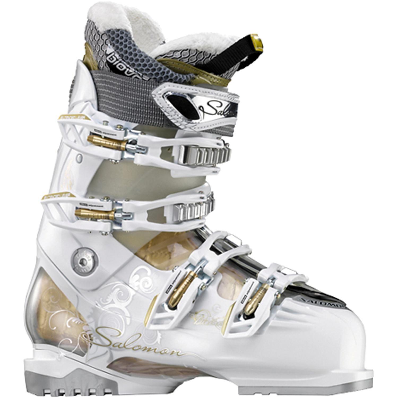Salomon Rs 85 Ski Boots Women S 2013 From Evo Com Ski Boots Ladies Ski Boots Womens Boots