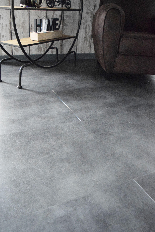 Dalle PVC XXL gris anthracite 8,8 mm Vittoria  KALICO  Dalle pvc