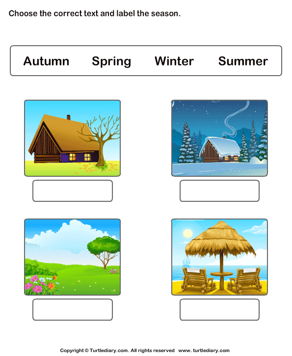 Weather And Seasons Worksheets - Label The Seasons 1 ...