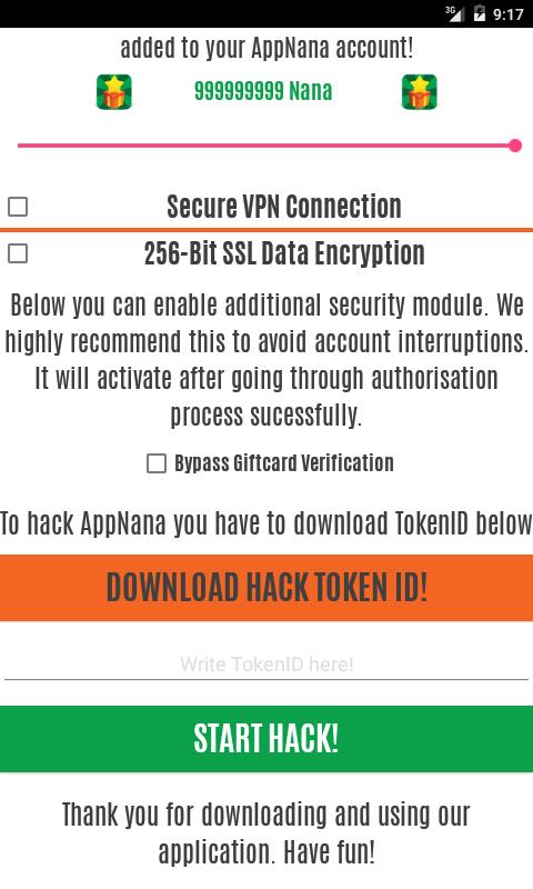 AppNana Hack How to get unlimited Nana Points AppNana Hack