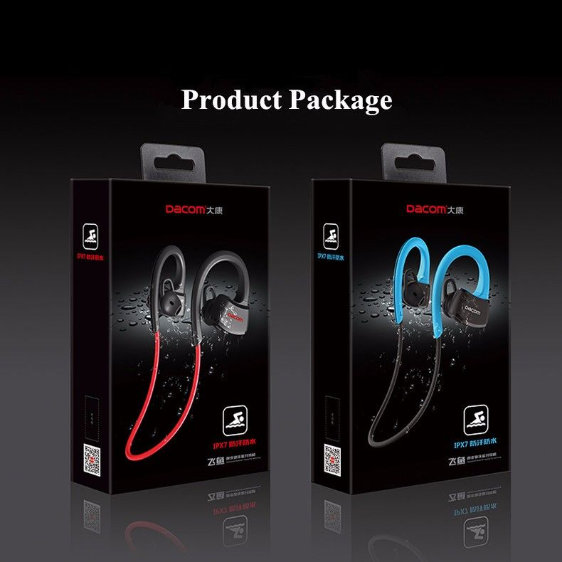 33ceb352fe8 Dacom P10 Sport Swim IPX7 Waterproof Ear-hook Wireless Bluetooth Headphone  Earphone