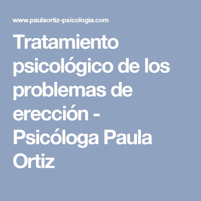 problemas de erección psicológica remedios