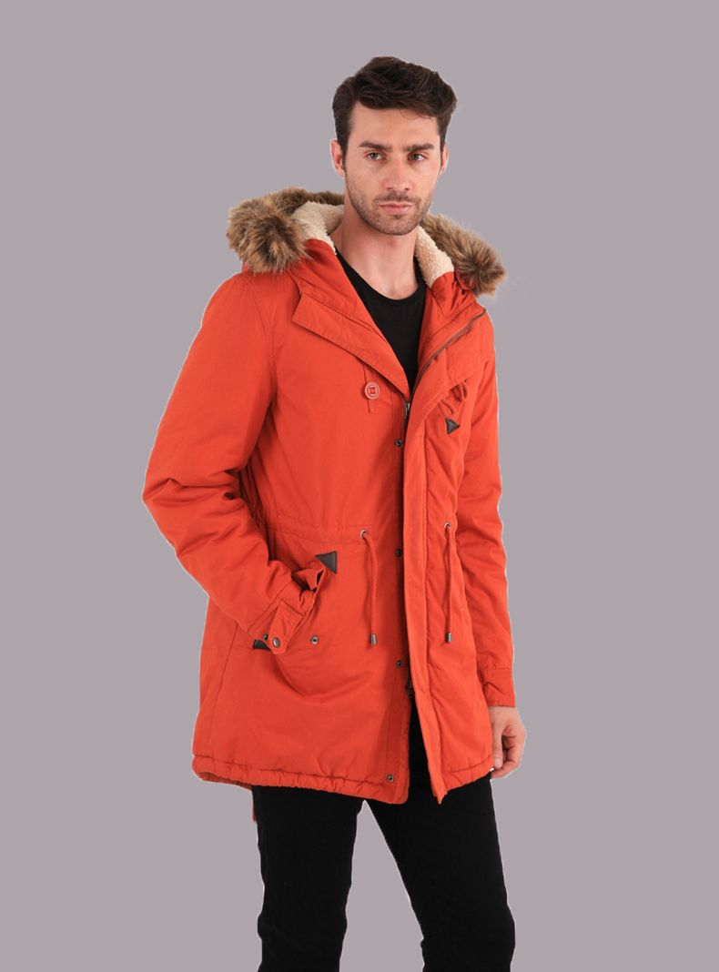 ZHANSHI 2014 New Collection Men's Winter Fashion Hooded Orange ...