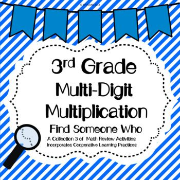 2 Digit By 1 Digit Multiplication Find Someone Who Pinterest