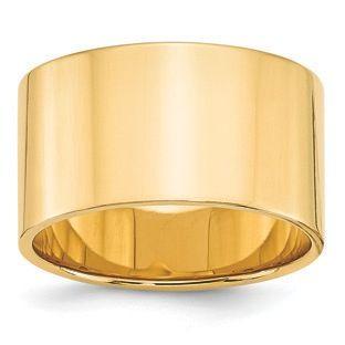 12mm Flat Edge Lightweight Plain Wedding Band In 14k Yellow Gold Gemologica Com Offers A Large Selection Of 10k And 14k Ye Gold Wedding Band Wedding Bands Gold