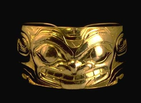 bill reid bracelet - originally used to replace/cover traditional tattoos.