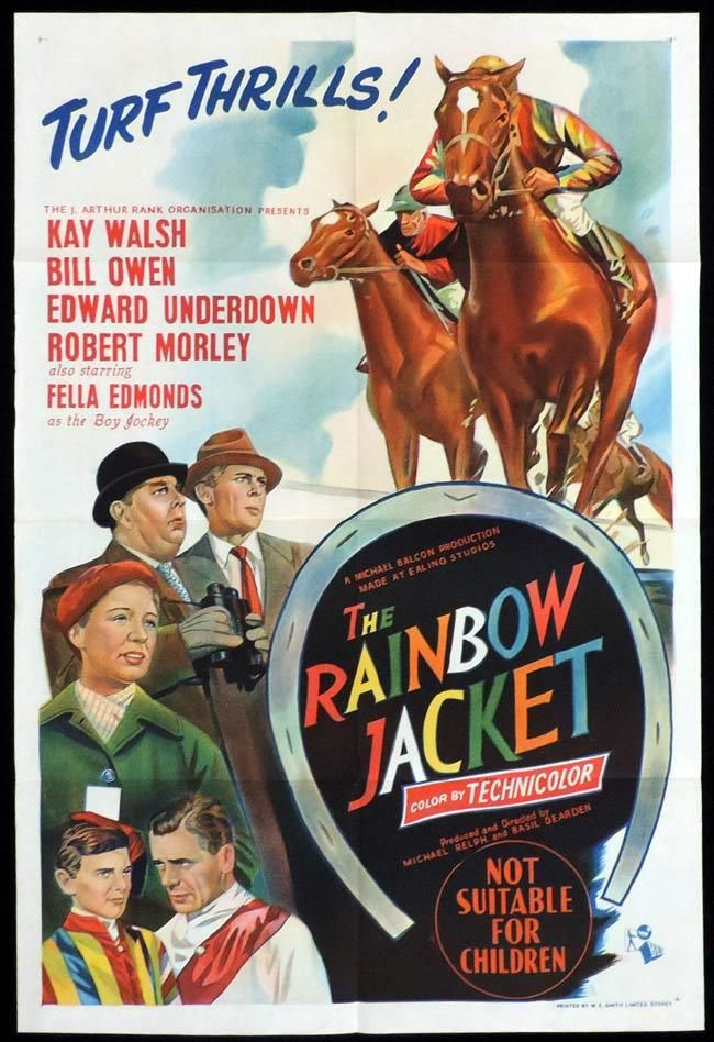 THE RAINBOW JACKET Original One sheet Movie Poster HORSE ...