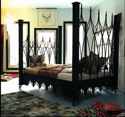 Gothic Beds Ferrebeekeeper Gothic Bedroom Furniture Gothic Bedroom Gothic Bed