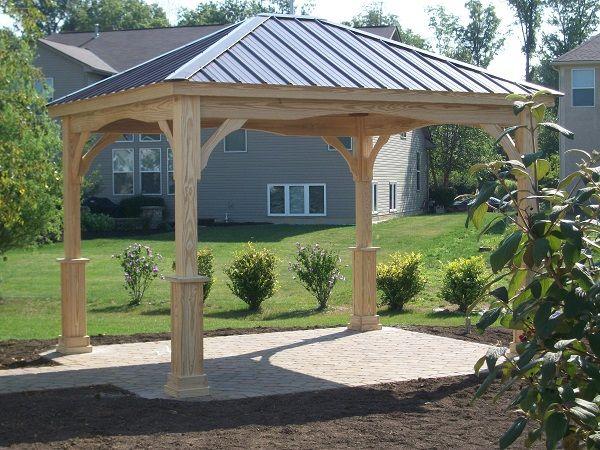 10x12 Hampton Pavilion (wood, Berlin Gardens) With Metal Regular Roof!  Visit Www