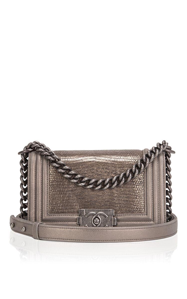 9804e6a16fc9 Chanel Metallic Bronze Lizard Small Boy Bag by Madison Avenue Couture for  Preorder on Moda Operandi