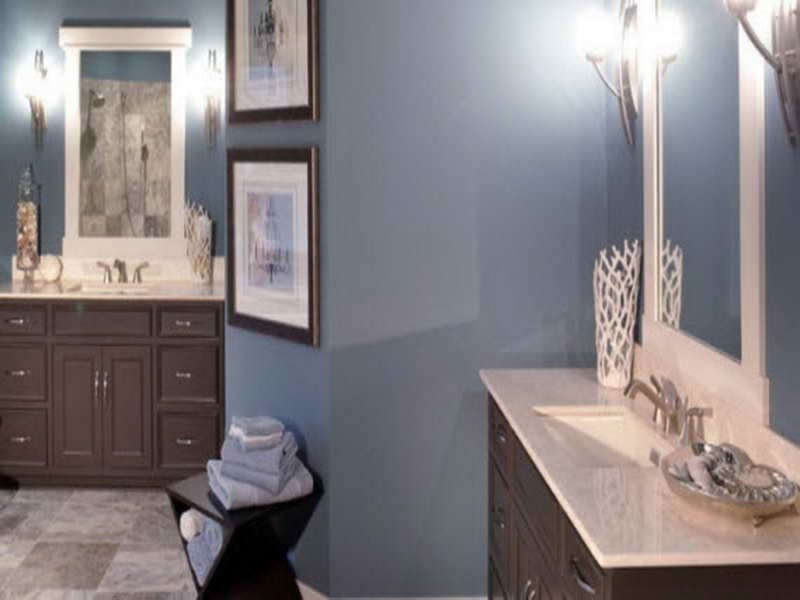 Bathroom Remodeling Ideas Colors blue and brown bathroom color for small bathroom wall. blue and