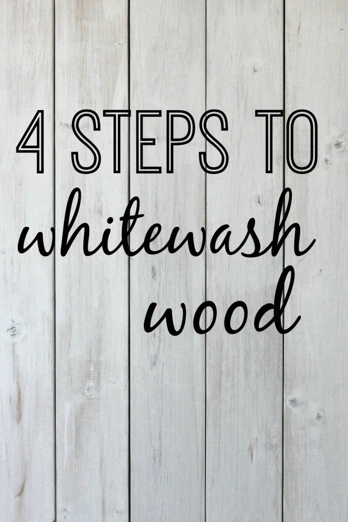 Photo of 4 Steps to Whitewash Wood   A tutorial.