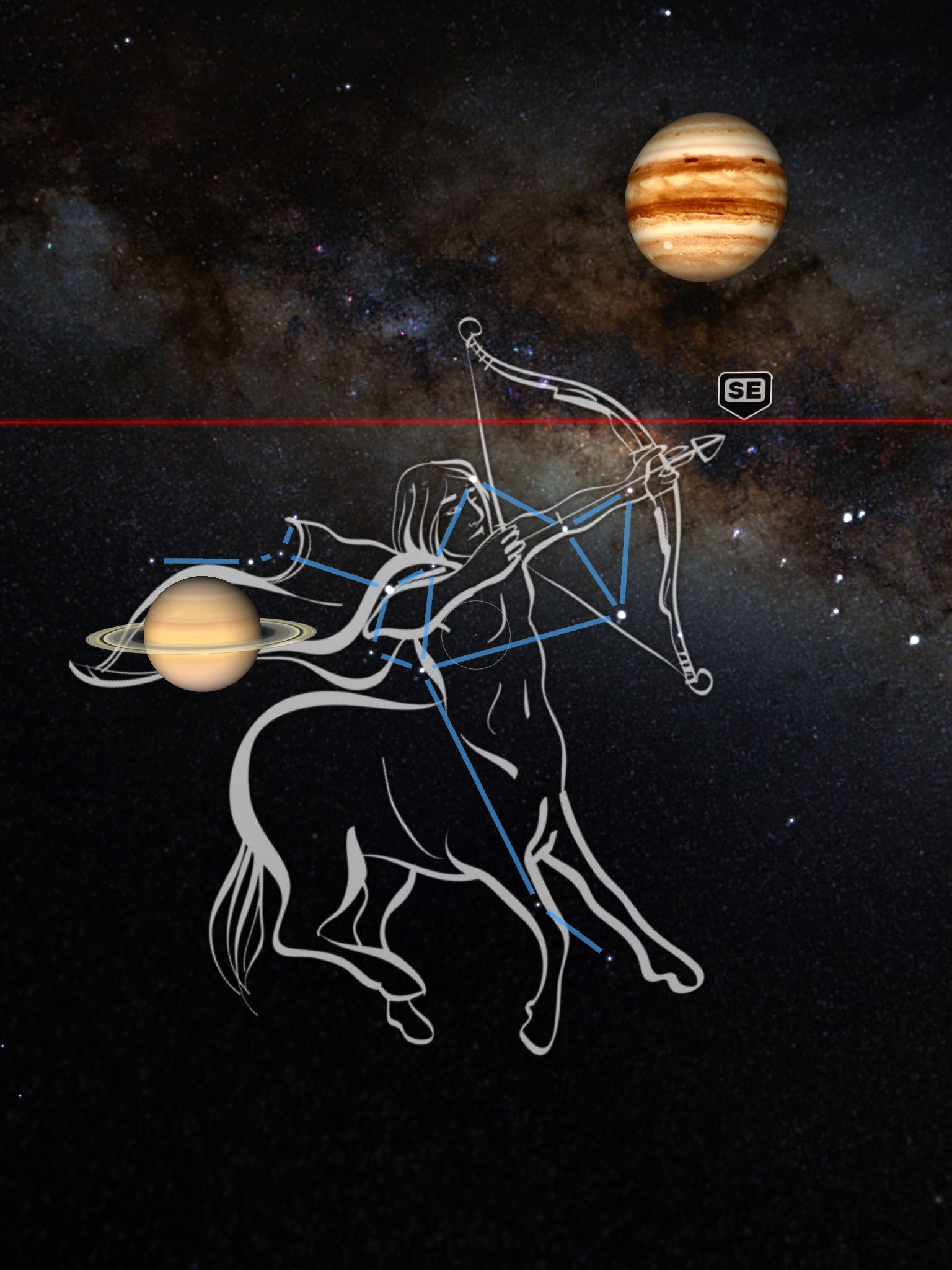 SAGITTARIUS Skyview app, Sagittarius, App