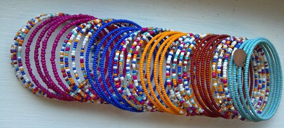 SALE BIG 45X Wrap Festival Beaded Bracelet Indian by jbyjosephine