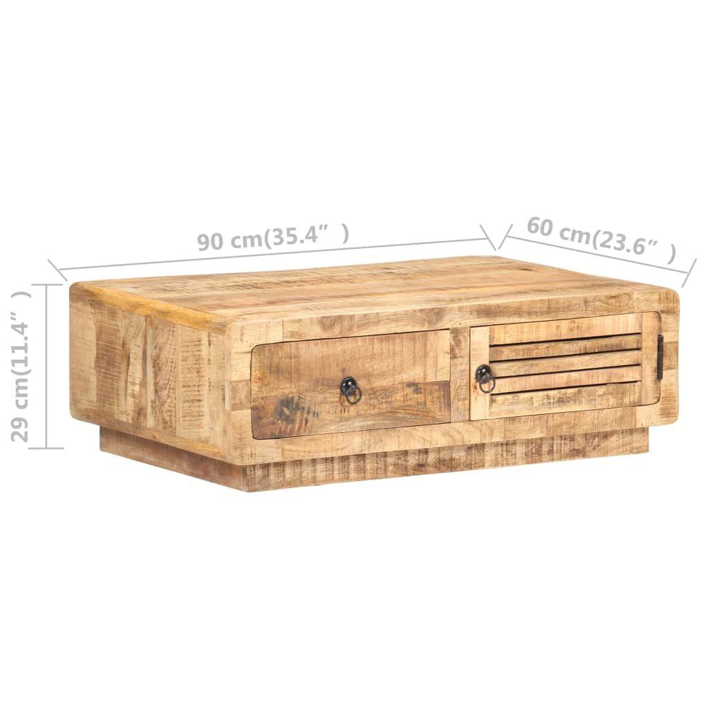 ZUN Coffee Table 35.4″x23.6″x11.4″ Rough Mango Wood 320458