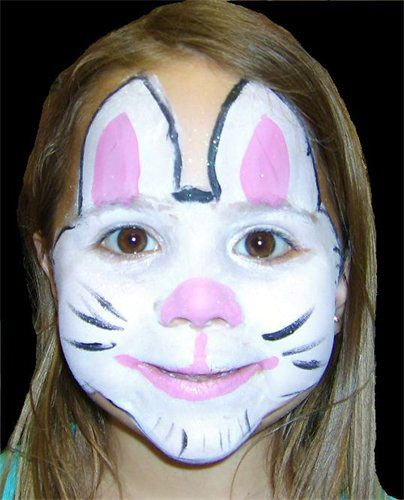 Easter Bunny Makeup Ideas Face paint bunnies Pinterest Bunny