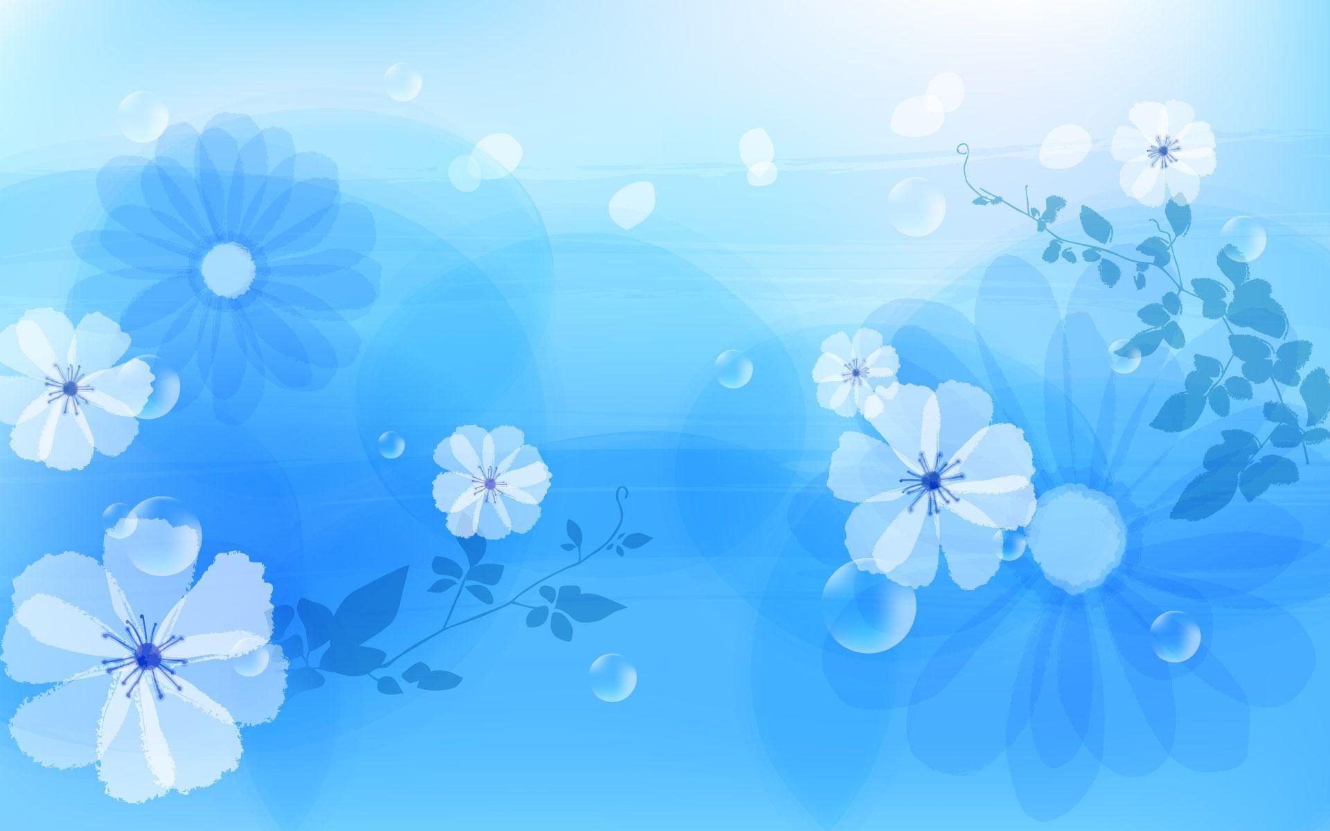Flower on Blue Wallpaper Desktop Wallpaper Blue flowers
