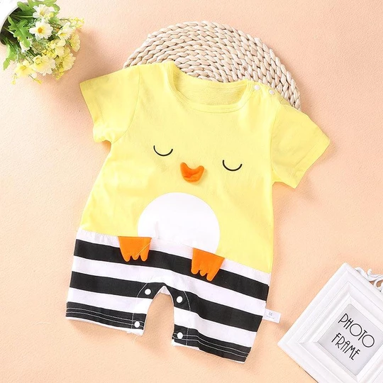 Toddler Infant Kids Baby Boys Cartoon Whale Short Sleeve Romper Jumpsuit Outfits