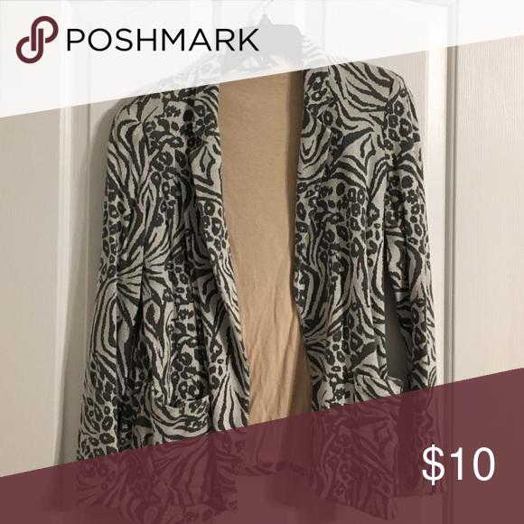 Grey zebra/cheetah print jacket Grey zebra/cheetah print jacket w/ pink lining from TopShop Topshop Jackets & Coats Blazers