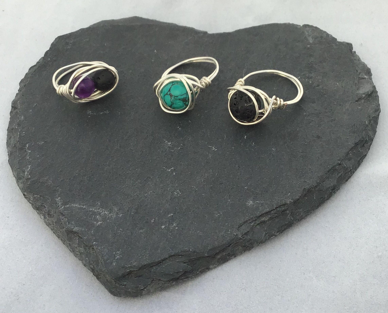Essential oil diffuser rings oil diffuser jewelry