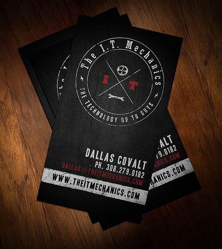 I T Mechanics Business Card Artist Business Cards Business Cards Cards