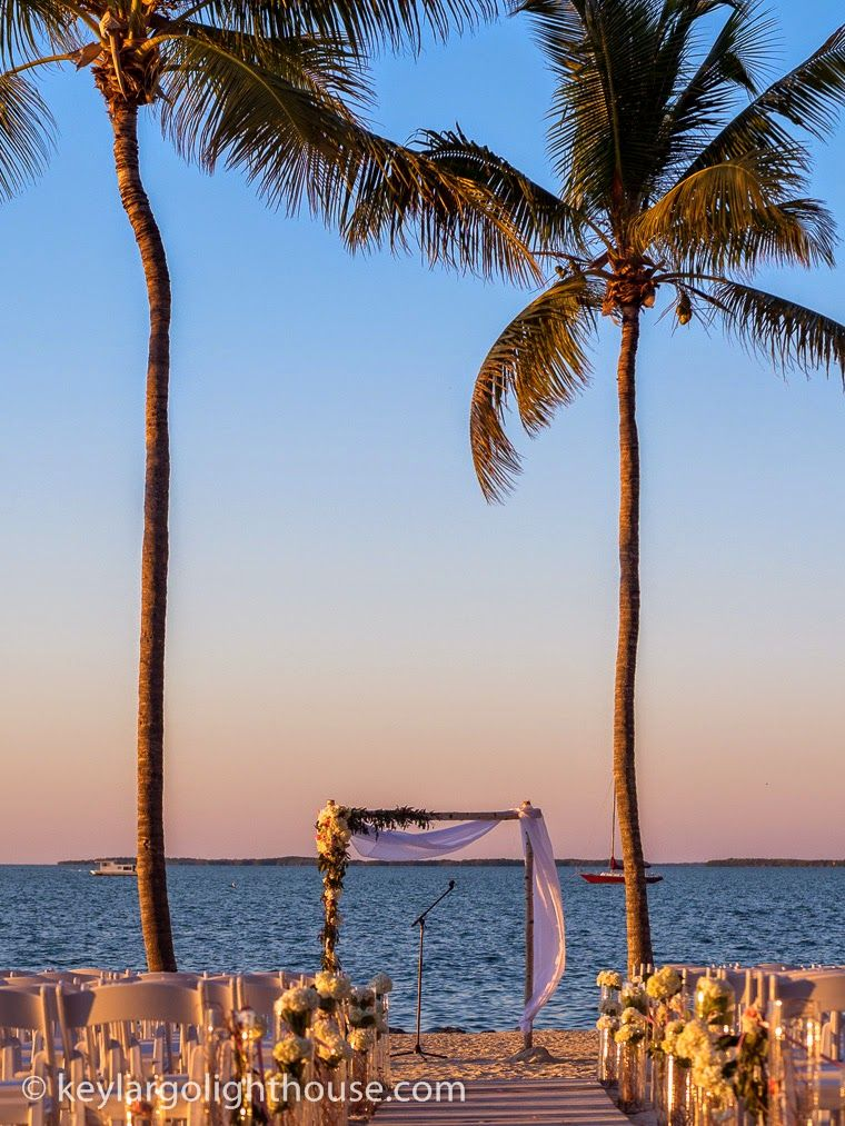 Incredible Waterview Ceremony At Key Largo Lighthouse Beach Wedding Venue In The Florida Keys