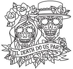 Day of the Dead dia de los muertos Sugar Skull coloring page ...