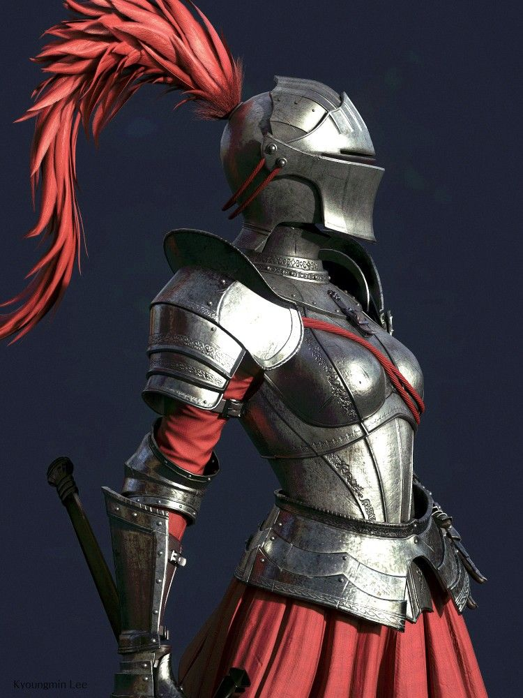 Female Sword Cleric Fighter Paladin Plate Armor Pathfinder Pfrpg