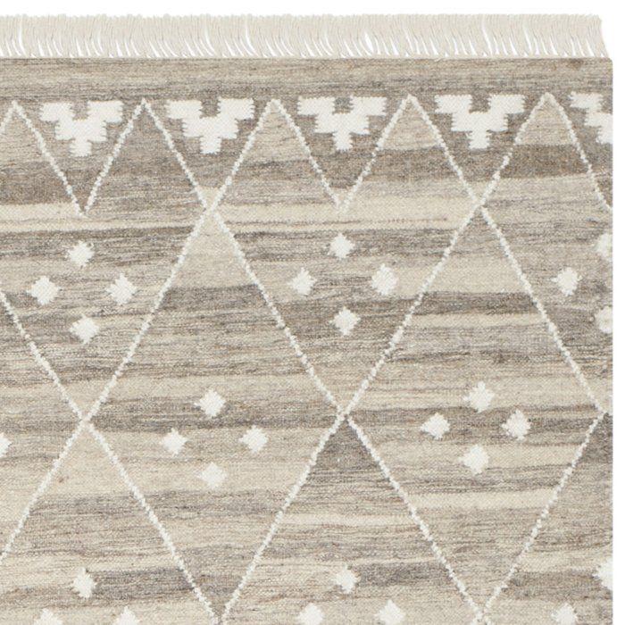 Aldergrove Geometric Flatweave Wool Natural/Ivory Area Rug ...